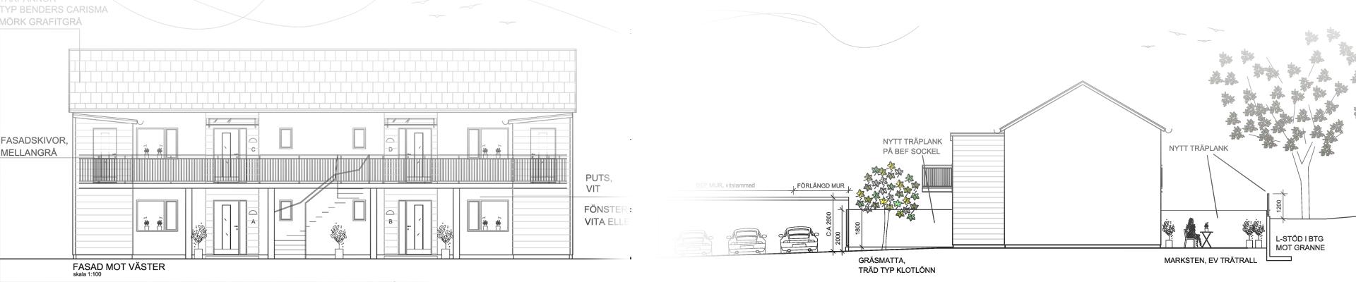 Projekt - nya lägenheter Storgatan 16